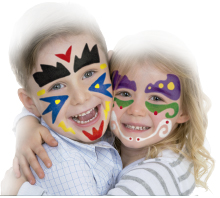 Aplicación para Paint Stick Rainbow Face paint