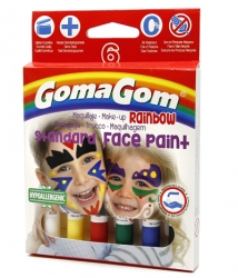 Paint Stick Rainbow Face paint