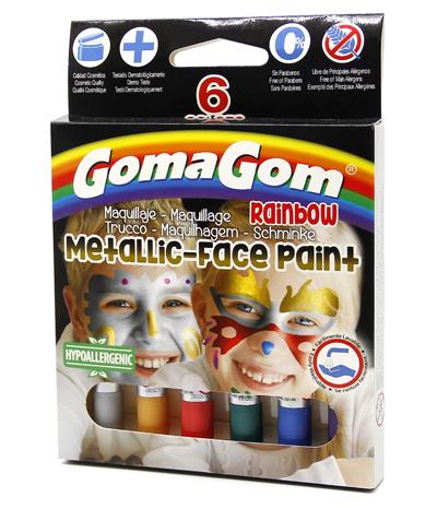 Paint Stick Rainbow Face paint Metallic