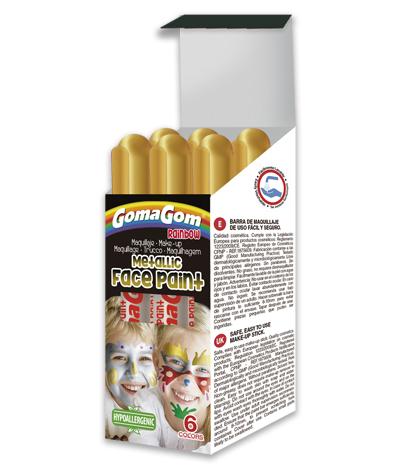 Paint Stick Metallic Rainbow Face Paint GOLD