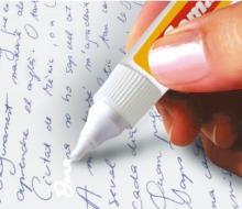 Aplicación para Correction pen