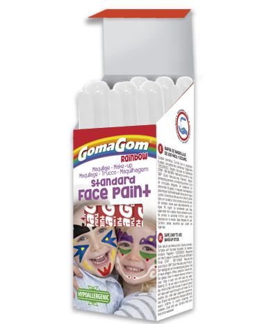Témpera sólida Rainbow Face Paint WHITE