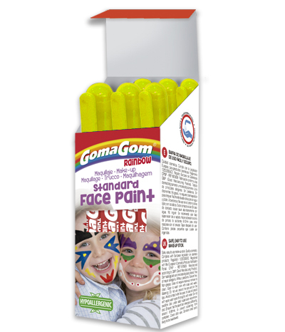 Témpera sólida Rainbow Face Paint YELLOW