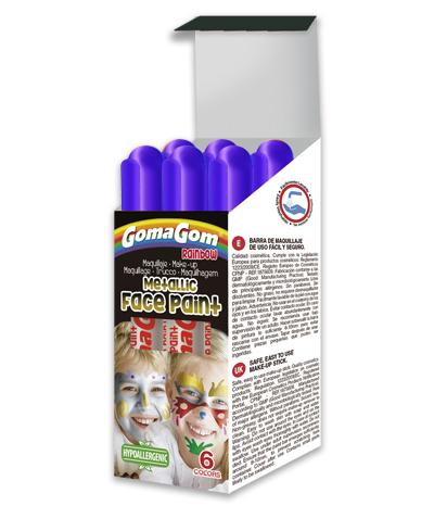 Témpera sólida Rainbow Metallic Face Paint BLUE