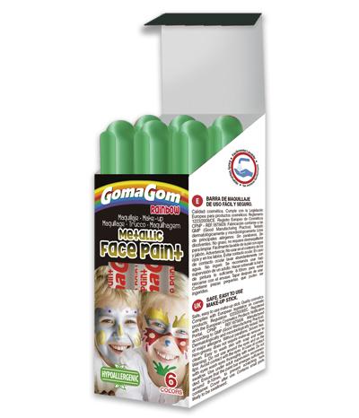 Témpera sólida Rainbow Metallic Face Paint GREEN
