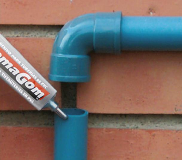 Aplicación para Adhesivo para tuberías de PVC