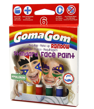 Gouache Solide Rainbow Face Paint