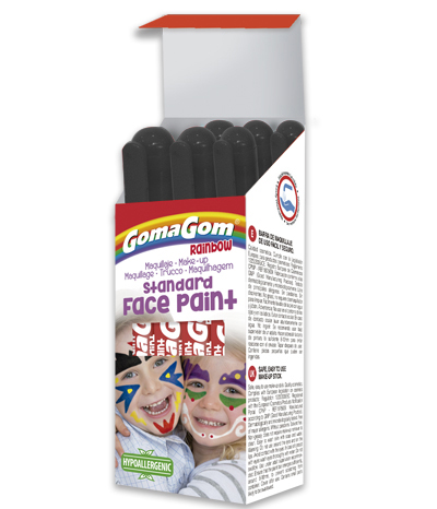 Gouache solide Rainbow Face Paint BLACK