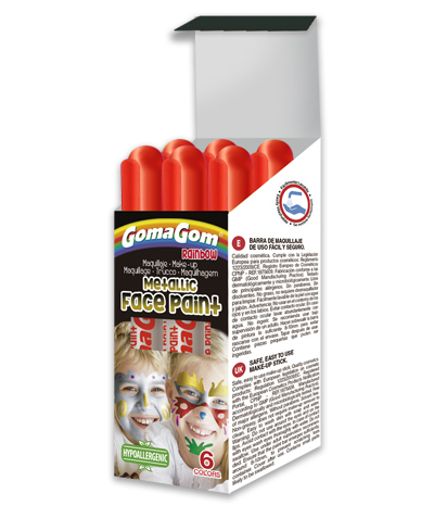 Gouache solide Metallic Rainbow Face Paint RED